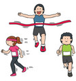 set of people running vector image