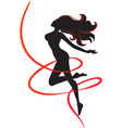 Slenderness Silhouette of slim girl vector image vector image