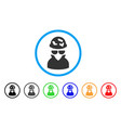 spotted spy rounded icon vector image vector image