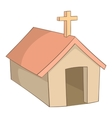 The church in village of Indians Argentina icon vector image