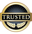 trusted gold icon vector image vector image