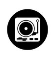 turntable icon design vector image