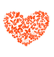 valentine from butterflies vector image vector image