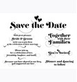 wedding invitation wording calligraphy vector image vector image