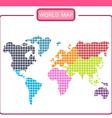 world map p vector image