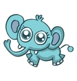 Baby elephant funny cartoon collection vector image