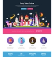 Fairy tales website header banner with webdesign vector image