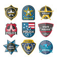police department badge set vector image