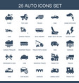 25 auto icons vector image vector image