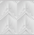 abstract art deco geometric white and gray color vector image
