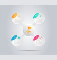 abstract modern circle infographic background vector image vector image