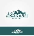 adventure mountains logo vector image vector image