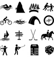 Adventure sports icons set vector image vector image
