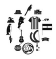 argentina set icons vector image