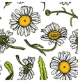 Beautiful vintage background with black daisies vector image vector image