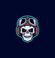 biker skull vector image