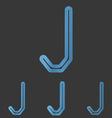 Blue line j logo design set vector image vector image