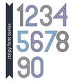 Blue slim numbers single color delicate digits vector image vector image