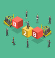 busines to business flat isometric vector image