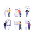 business organized people colorful flat vector image