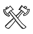 camping axes color icon design sign vector image vector image