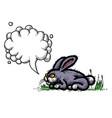 cartoon image of rabbit vector image vector image