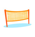 cartoon orange volleyball or badminton net vector image vector image