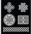 Celtic knots patterns on black background vector image vector image
