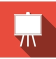 Chalkboards Icon with long shadow vector image vector image