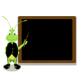 cricket and blackboard vector image vector image