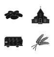 culinary religion and other web icon in black vector image vector image