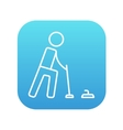 Curling line icon vector image vector image