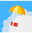 Delivery concept parachute icon Gift box flying vector image vector image