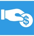 Donation icon from Business Bicolor Set vector image vector image