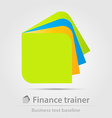 Finance trainer business icon vector image
