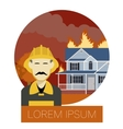 Fire in the house 1 vector image vector image