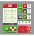 Flat style pizza menu design Document template vector image vector image