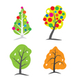 Four seasons tree symbols vector image