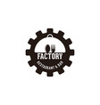 gear spoon and fork factory restaurant logo vector image vector image