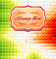 Green and red mosaic background vector image vector image