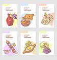 hand drawn georgian food brochure template vector image vector image
