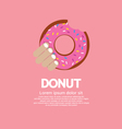 Hand Holding A Tasty Doughnut vector image vector image