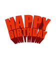 Happy birthday 3D text Logo for holiday Festive vector image