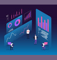 investment strategy isometric concept people with vector image