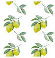 lemon branch seamless pattern vector image vector image
