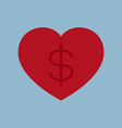 love money business concept vector image vector image
