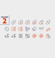medicine ui pixel perfect well-crafted thin vector image vector image