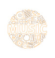 music items background musicians instruments for vector image vector image