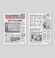 newspaper layout news column articles newsprint vector image