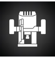 Plunger milling cutter icon vector image vector image